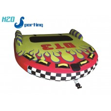 H2O Flaming DT3 1, 2, 3 Person Lay On Top Tube /Towable