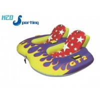 H2O Sporting Flaming GT2 2 Person Safe Sit in Tube / Towable