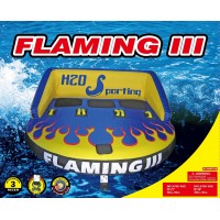 H2O Sporting Flaming III 3 Person Safe Sit On Tube / Towable
