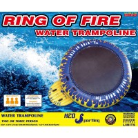 H2O Sporting Ring of Fire Water Trampoline / Bounce Platform